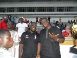 mounirou Daouda ici avec le ministre des sports Didier Akplogan 2011