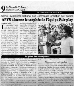 Alodo Sports récompensé par APVS