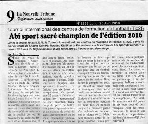 La Nouvelle Tribune 1